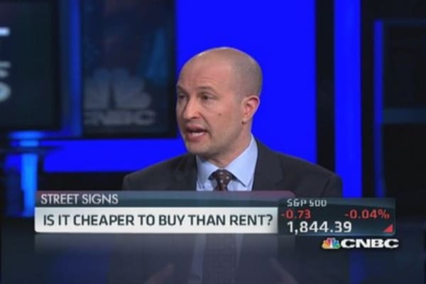 Trulia: Narrowing rent vs. buy gap