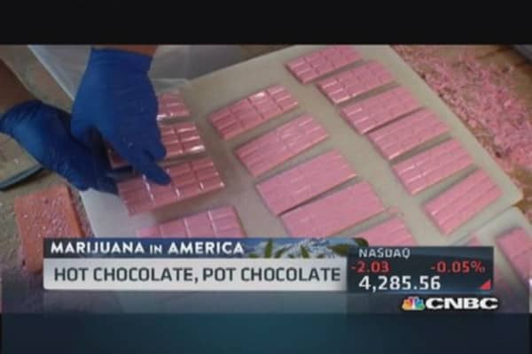 Marijuana candy bars