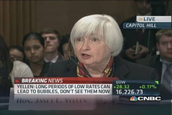 Fed Chair Yellen: Mortgage backed securities less liquid than Treasurys