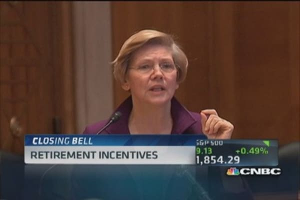 Sen. Warren: Tax code favors rich on retirement