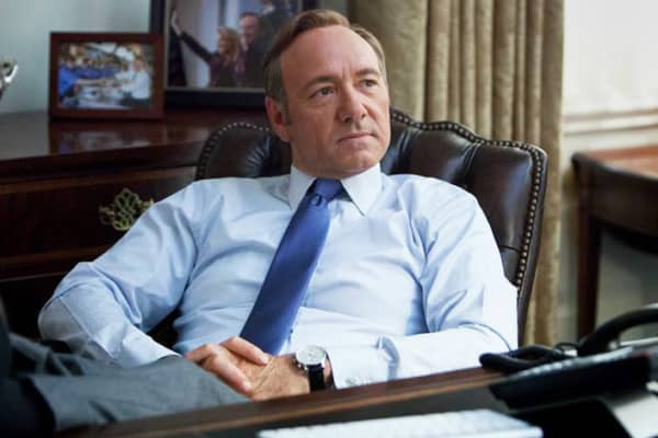 "Kevin Spacey in Netflix's ""House of Cards"""
