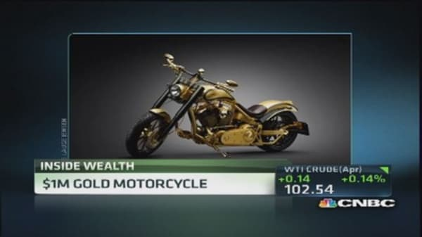 $1 Million gold motorcycle coming