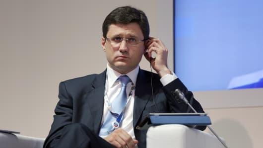 Russia's energy minister Alexander Novak