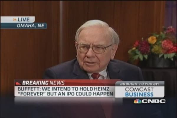 Buffett's appetite for another acquisition