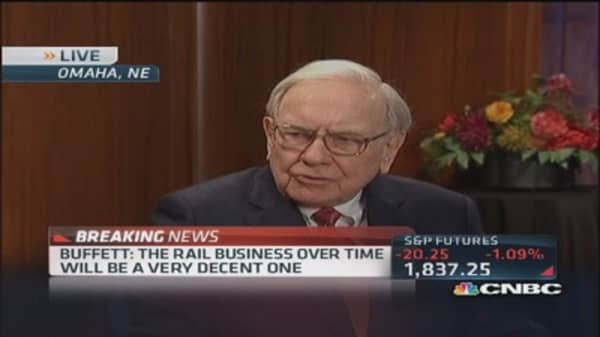Buffett:  Rails have 'real economic' advantages
