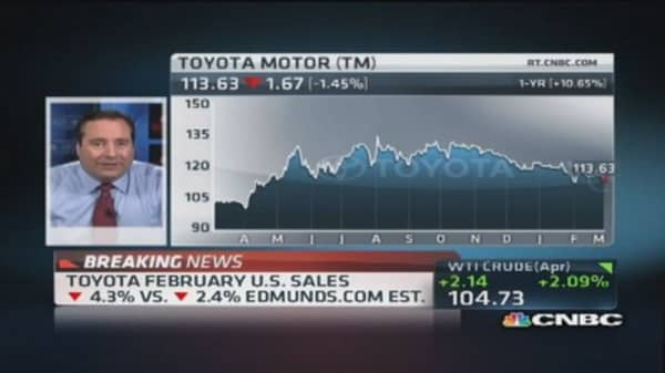 Toyota February sales decline 4.3%