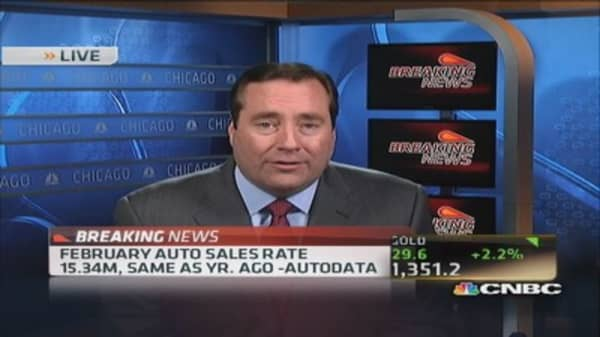 February auto sales rate: 15.34 million