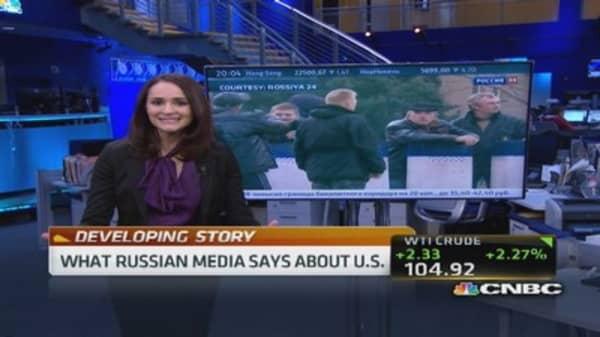 Russian anchor takes jab at NATO