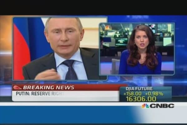 No military force 'for now': Putin