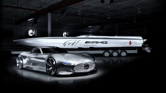 Mercedes-Benz Cigarette Racing 50' Vision GT Concept.