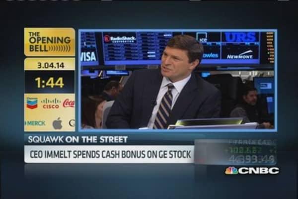 GE CEO Immelt spends bonus on GE stock