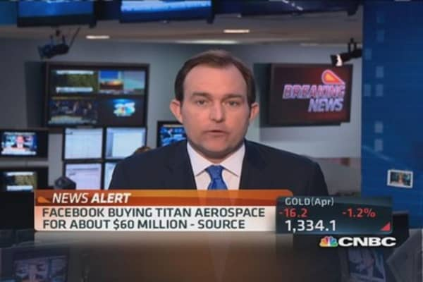 Facebook buying Titan Aerospace for $60 million