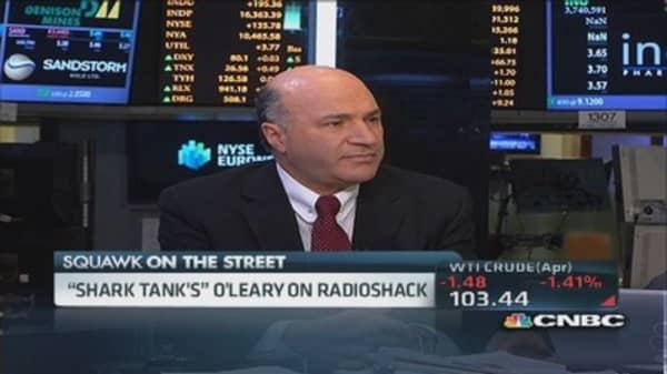 Shark Tank's O'Leary: RadioShack concept will go to zero