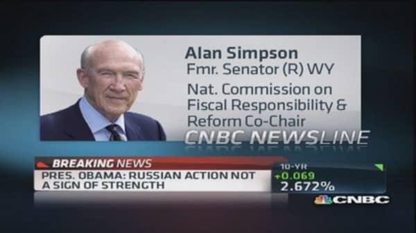 Alan Simpson: Gov't needs long-term vision