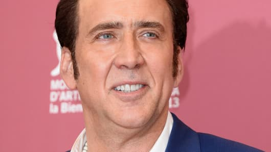 Actor Nicolas Cage at The 70th Venice International Film Festival on August 30, 2013 in Venice, Italy.