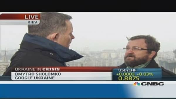 Social network activity 'enormous' during Ukraine uprising: Google