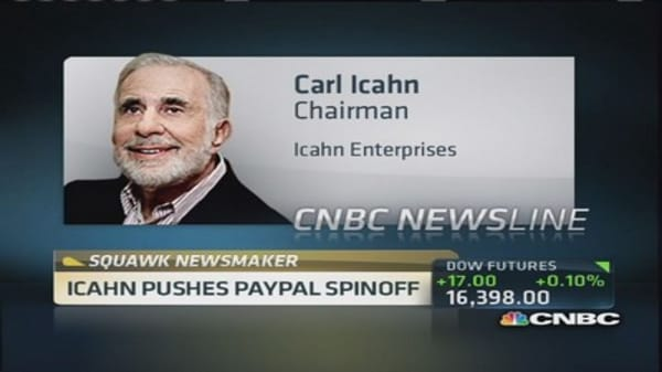 Carl Icahn: Never seen worse governance than eBay