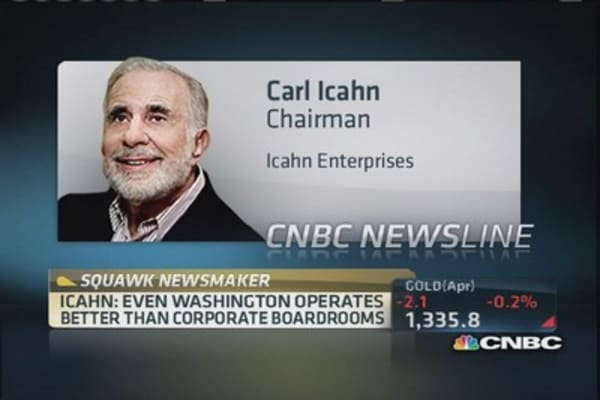 Carl Icahn: Even D.C. better than corporate boardrooms