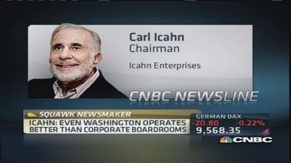 Carl Icahn: eBay's Donahoe more to blame than Andreessen