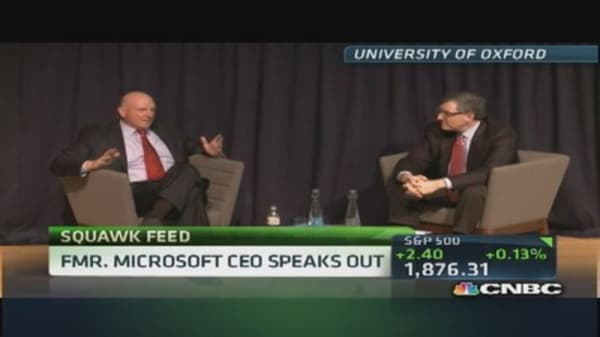 Ballmer's back: Former MSFT CEO speaks at Oxford