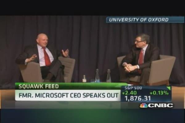 Ballmer's back: Former MSFT CEO speaks at Oxford