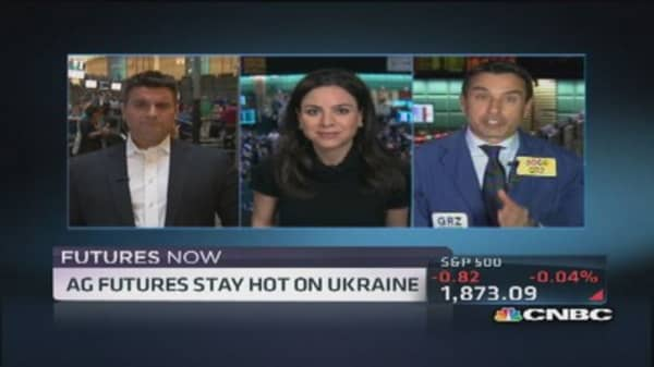 Futures Now: Ukraine uncertainty hits grains