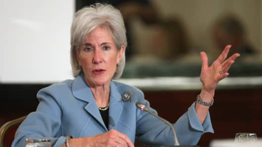 Health and Human Services Secretary Kathleen Sebelius.