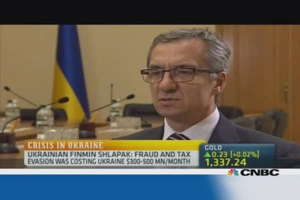 Ukraine Fin Min: Our coffers are nearly empty