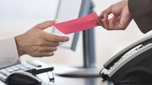 Job cuts pink slip