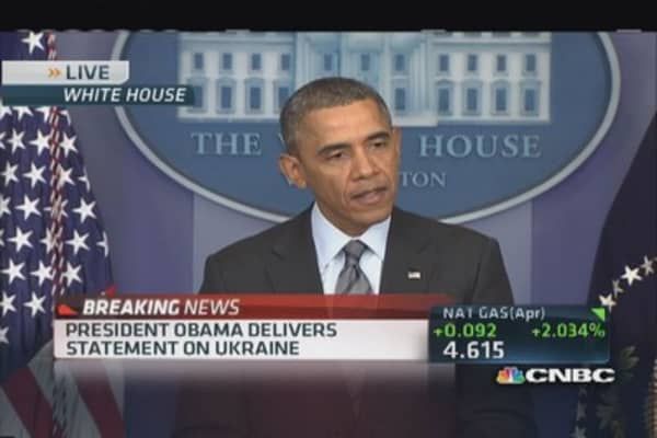 Pres. Obama: Seek just outcome for Ukrainian people