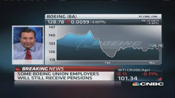 Boeing converting pensions to 401k