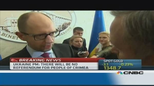 Crimea 'was, is and will be' part of Ukraine: PM