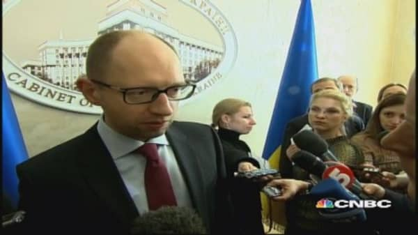 Ukraine PM: We urge Russia to not support separatists & terrorists