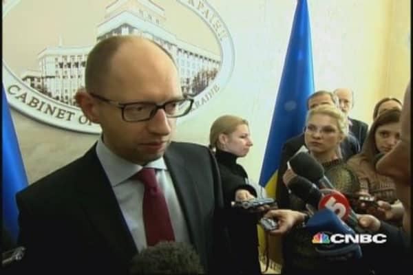 Ukraine PM: We urge Russia to not support separatists & terrorists