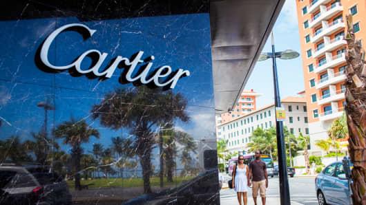 A Cartier store in San Juan, Puerto Rico.