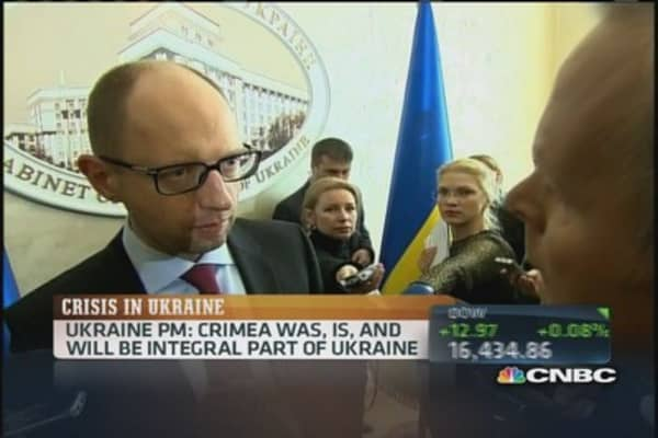 Ukraine PM: Crimea is part of Ukraine, no concessions