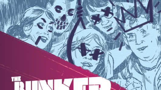 The first printing cover for #1 issue of The Bunker.