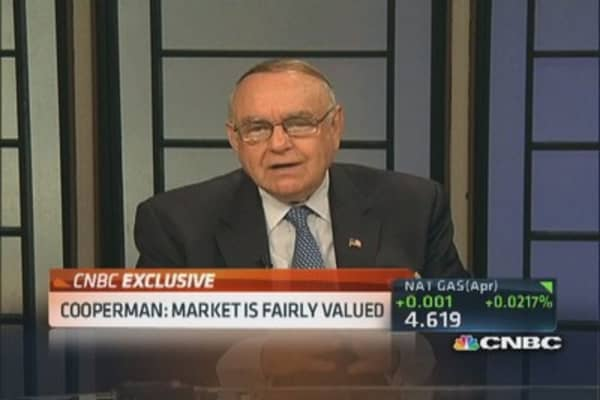 Cooperman: Highly doubtful market rages from here