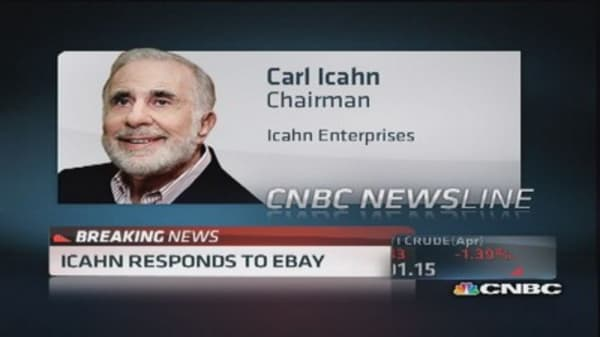 Carl Icahn: eBay doesn't want discipline