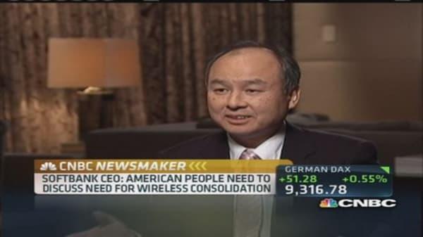 SoftBank CEO: US needs to increase Internet speed