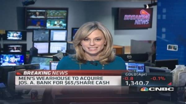 It's a deal! Men's Wearhouse to acquire Jos. A. Bank