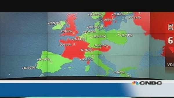 EU shares close mixed as Ukraine weighs