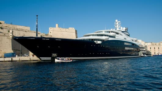 M/V Serene 440-foot yacht owned by Yuri Scheffler, the founder of Stolichnaya Vodka.
