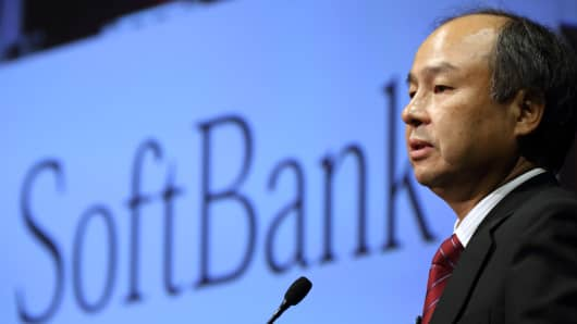 Masayoshi Son, chairman and chief executive officer of SoftBank Corp.