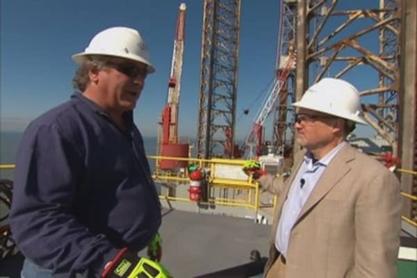 Cramer's oil rig experience