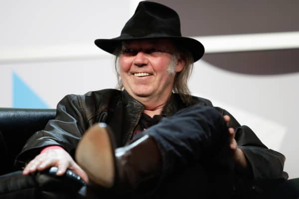 Neil Young speaks at the 2014 SXSW Music, Film + Interactive Festival on March 11, 2014 in Austin, Texas.