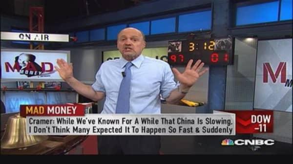 Market on grips of China slowdown: Cramer