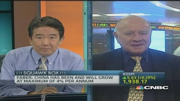 Marc Faber: China to grow at 4% per annum