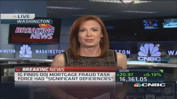 Deficiencies found in DOJ mortgage investigation
