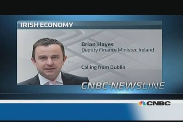 Don't read too much into Irish GDP: Deputy fin min